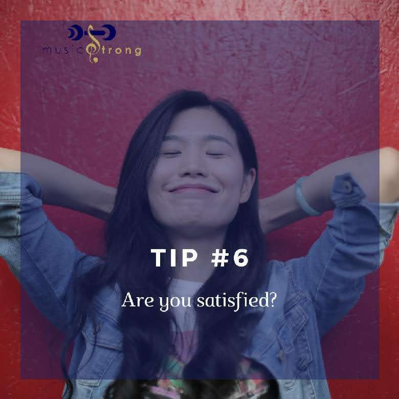 Tip # 6 Are you satisfied cover image
