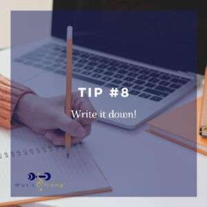 TIP # 8 Write it down cover image
