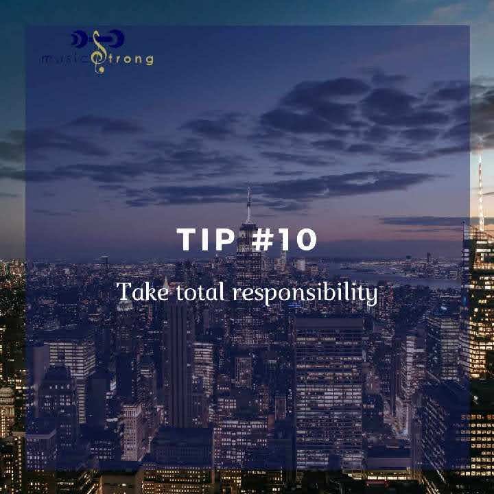 Tip # 10 Take total responsibility cover image
