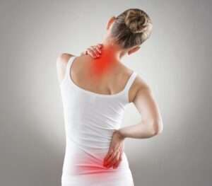 a women with back pain