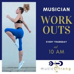 musician workouts poster