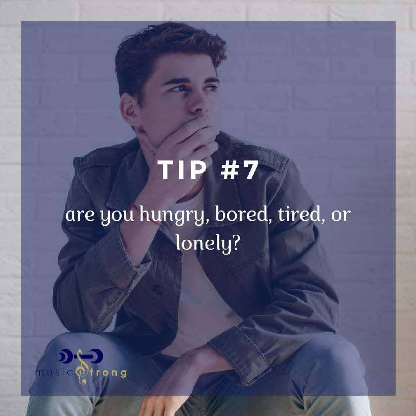 TIP # 7 Are you hungry, bored, tired, or lonely cover image